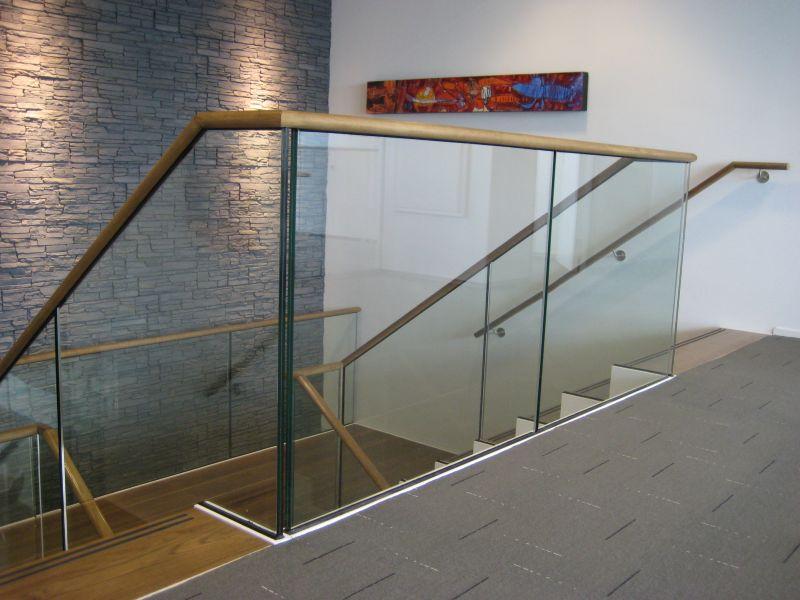 Balustrade glas volglas for Balustrade trap
